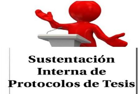 Sustentación Interna de Protocolos de Tesis